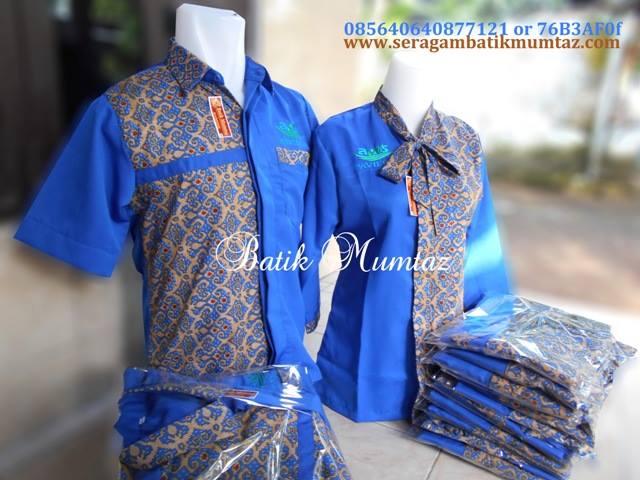 10 Model Seragam Batik Pegawai Bank, Mumtaz! | Model Baju Batik Kantor