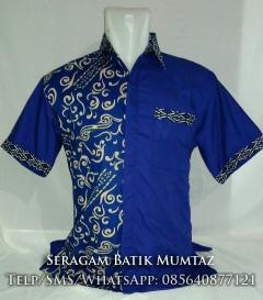 Batik Kombinasi Biru