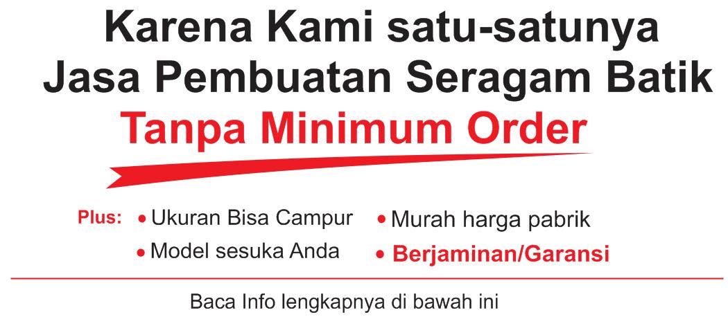 Seragam Batik tanpa minimum order