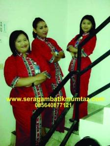 seragam batik bank mandiri