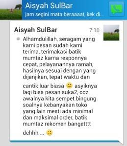Testimoni Pesan Batik