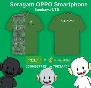 Seragam batik karyawan oppo smartphone