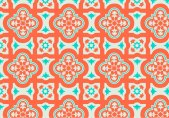 orange-and-teal-moroccan-pattern-background-vector