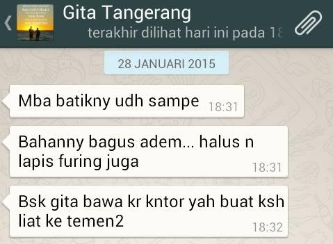 Testimoni Seragam Batik