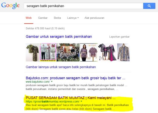 Seragam Batik Pernikahan