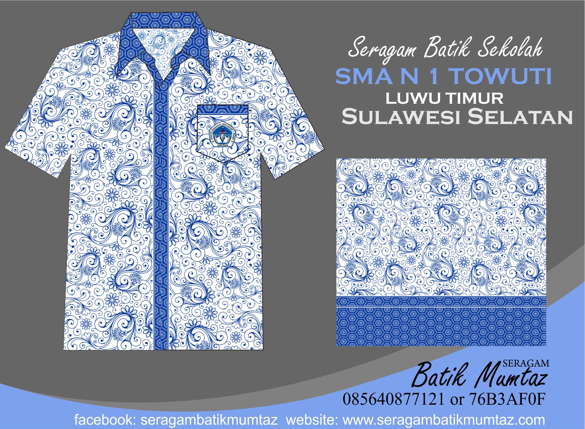 Desain Khusus Seragam Batik SMA N 1 Towuti Sulawesi ...
