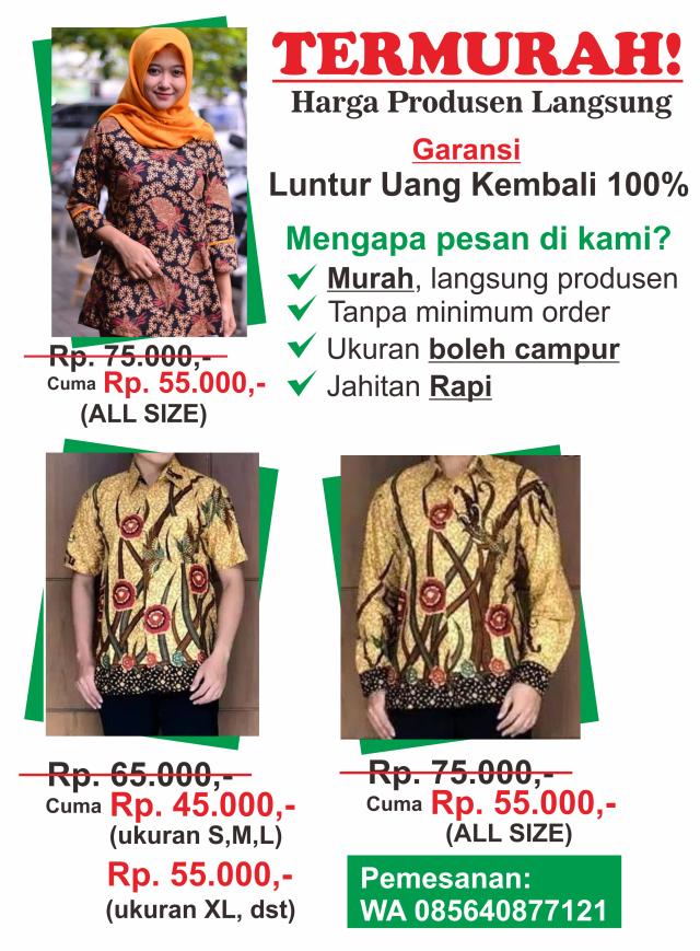 harga seragam batik