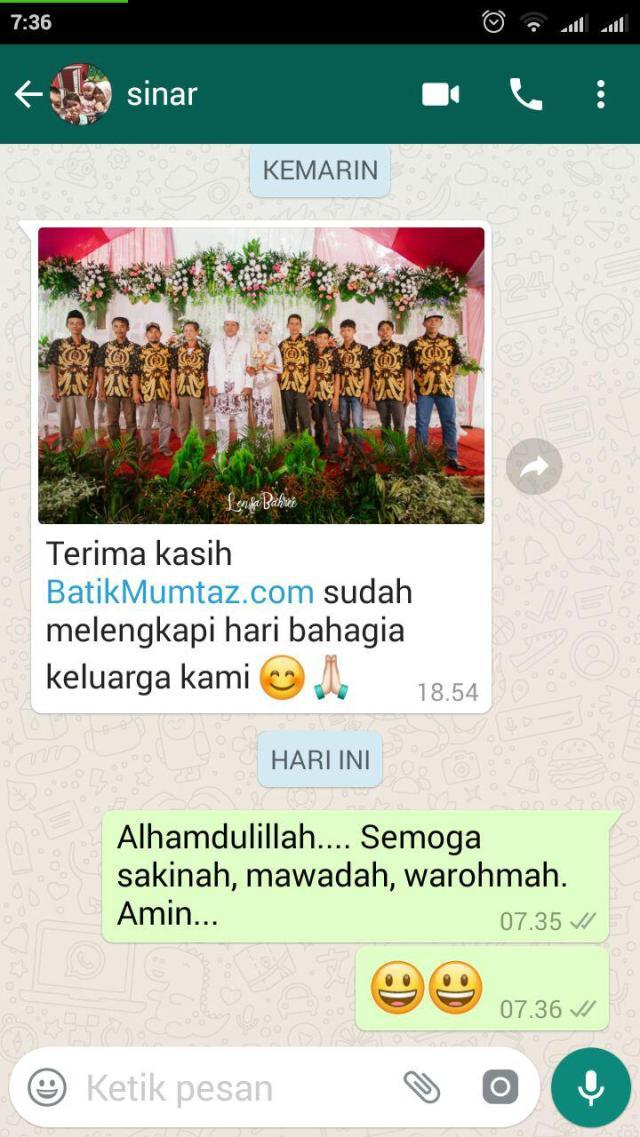 testimoni batik perniakahan